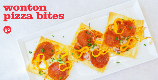 Frieda's Specialty Produce - Wonton Pizza Bites