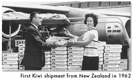 Frieda's Specialty Produce - Frieda Caplan - First shipment of Kiwifruit