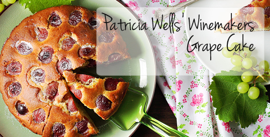 Patricia Wells' Winemakers Grape Cake