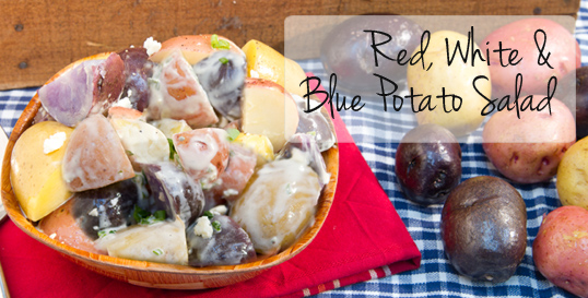 Frieda's Specialty Produce -Red White and Blue Potato Salad