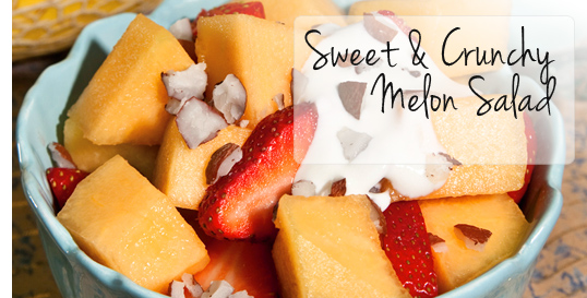 Sweet & Crunchy Melon Salad