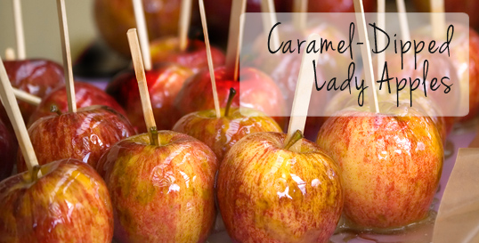 Caramel-Dipped Lady Apples