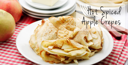 Hot Spiced Apple Crepes