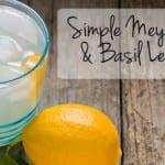 Simple Meyer & Basil Lemonade