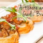 Artichoke and Black Garlic Bruschetta