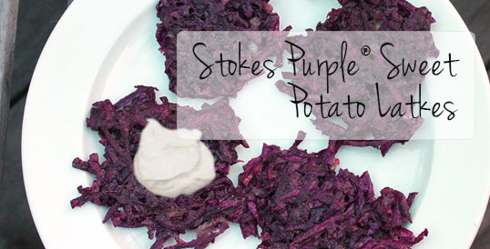Stokes Purple® Sweet Potato Latkes
