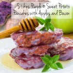 Stokes Purple® Sweet Potato Pancakes with Apples and Bacon