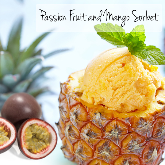 Passion Fruit and Mango Sorbet