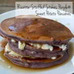 Ricotta-Stuffed Stokes Purple® Sweet Potato Pancakes