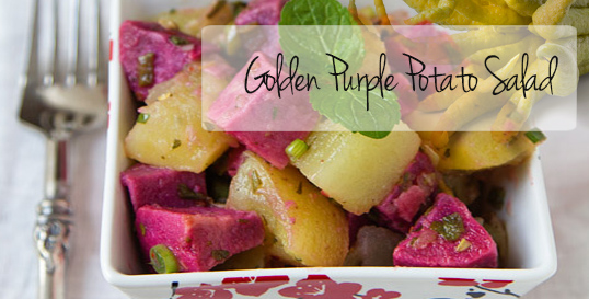 Golden Purple Potato Salad