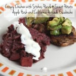 Crispy Chicken with Stokes Purple® Sweet Potato Apple Hash and California Avocado Escabeche