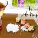 Tequila Shot with Finger Limes