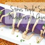 Stokes Purple® Sweet Potato Medallions with Chipotle Cream