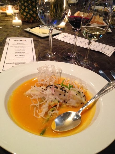 Karen's Blog - Red curried sweet potato soup with halibut