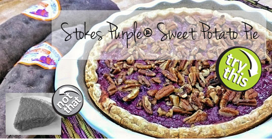 Frieda's Specialty Produce - Try This Not That® - Stokes Purple® Sweet Potato Pie
