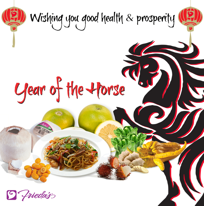 Frieda's Specialty Produce - Happy Chinese New Year - Year of the Horse.