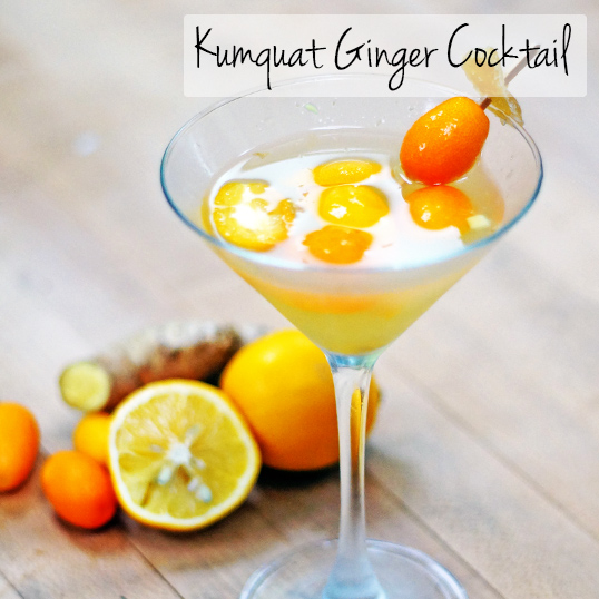 Kumquat Ginger Cocktail