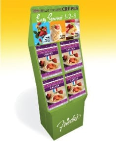 Frieda's Specialty Produce - French Style Crepes Shipper 2014