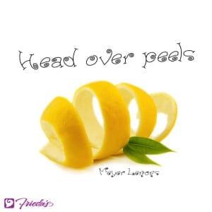Frieda's Veggie Valentine: Head over (Meyer Lemon) peels