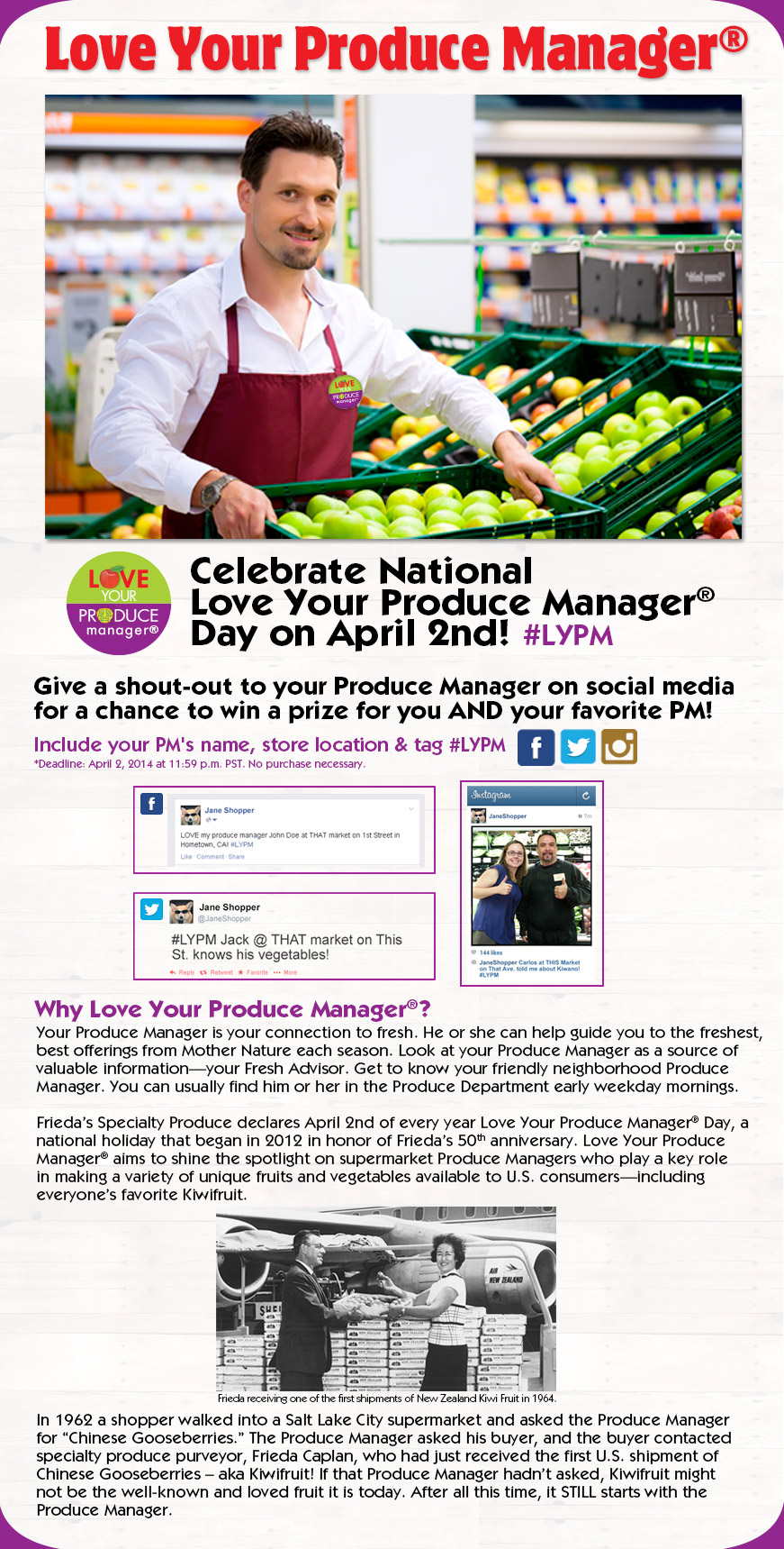 Frieda's Specialty Produce - Love Your Produce Manager Day