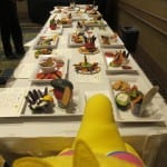 FPFC Snack Challenge - Big Bird looking over the entries