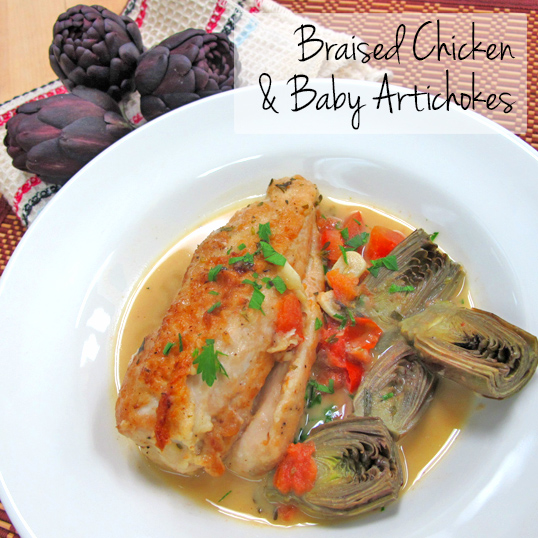 Frieda's Specialty Produce - Braised Chicken and Baby Artichokes