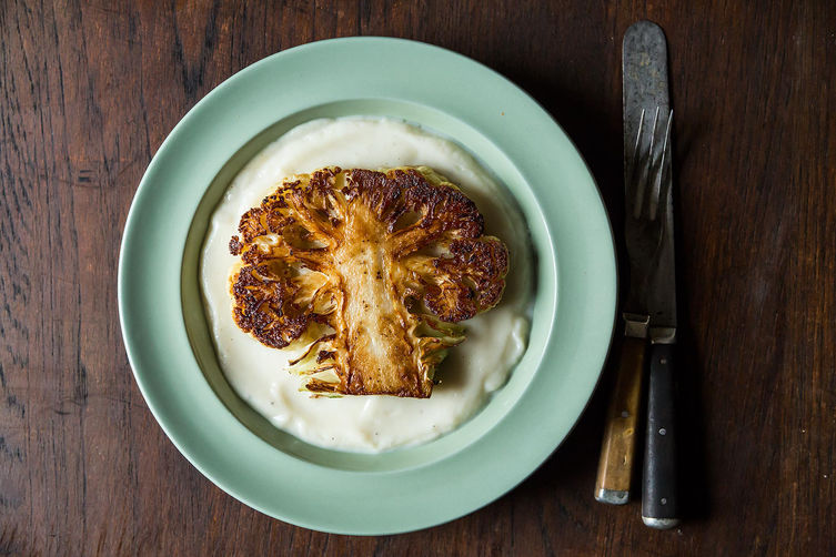 Frieda's Specialty Produce - What's on Karen's Plate? - Food52: Dan Barber's Cauliflower Steaks with Cauliflower Purée