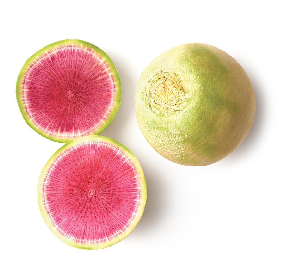 Watermelon Radish Menu Image