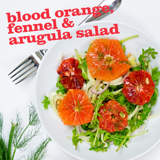 Home > Recipes > Salads > Blood Orange, Fennel, and Arugula Salad