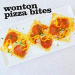 Wonton Pizza Bites