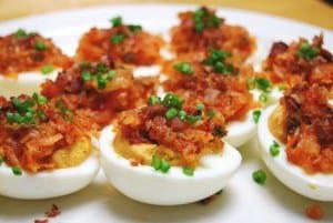 John T's Kimchi Devilled Eggs