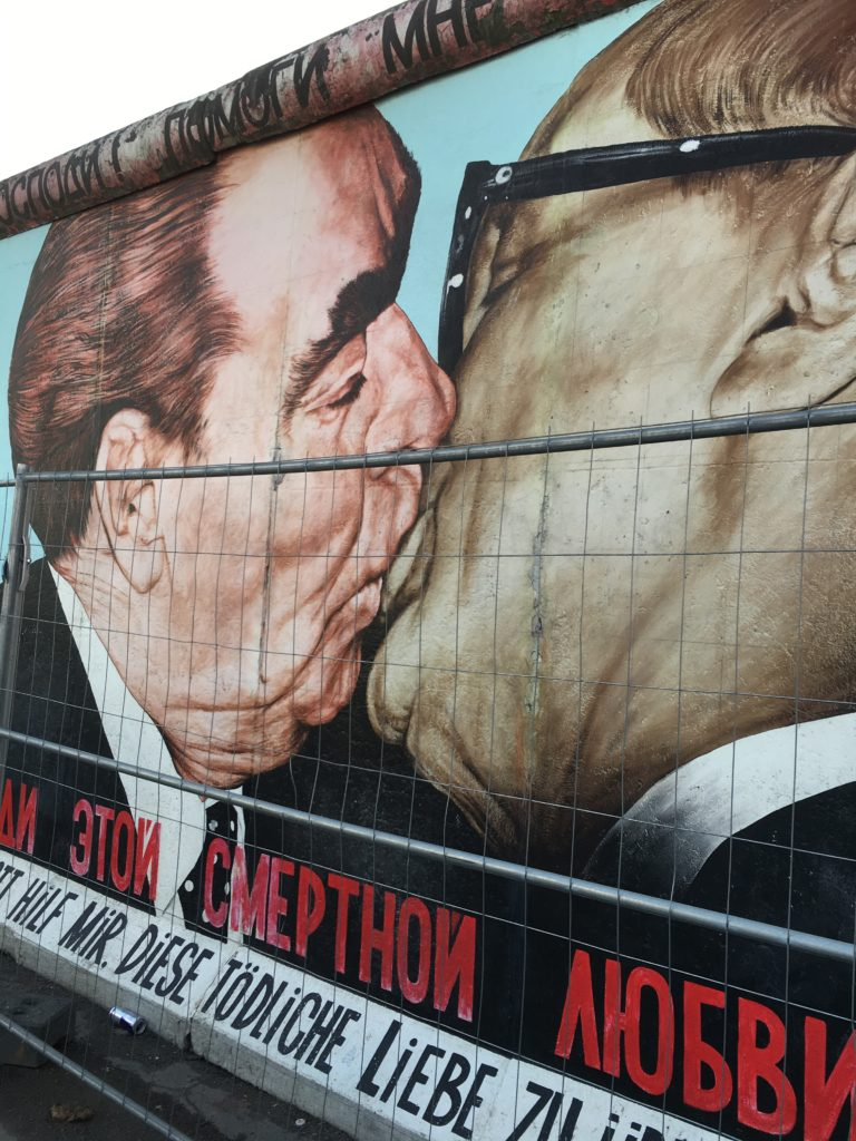 The most famous mural at the East Side Gallery/Berlin Wall