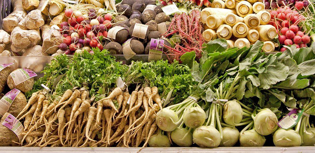 Frieda's Specialty Produce - Root vegetable display