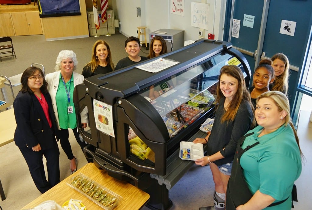 Frieda's Specialty Produce - Let's Move Salad Bar to School Donation - Oak Middle School - Los Alamitos, California