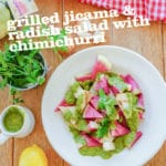 Grilled Jicama & Radish Salad with Chimichurri