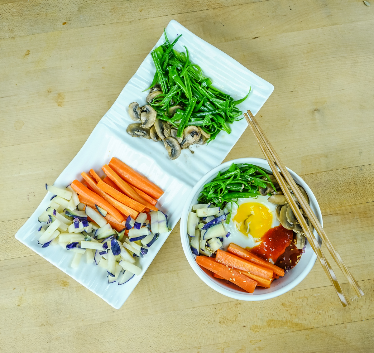Frieda's Specialty Produce - Vegetarian Rainbow Bibimbap