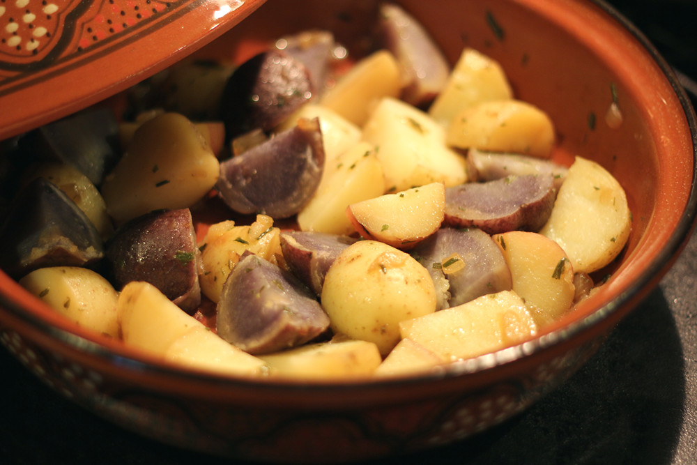 Cookistry - Red White & Blue Herbed Potato Tagine