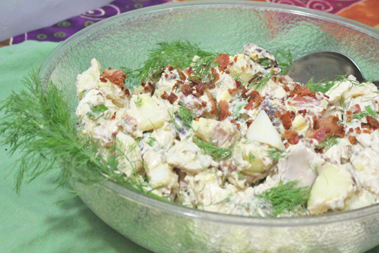 Fresh Food in a Flash - Bacon and Potato Salad