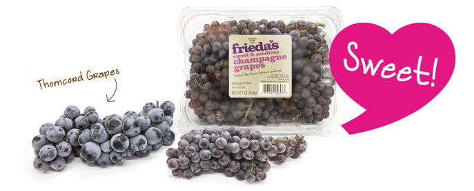 Frieda's Specialty Produce - Champagne Grapes - Thomcord Grapes