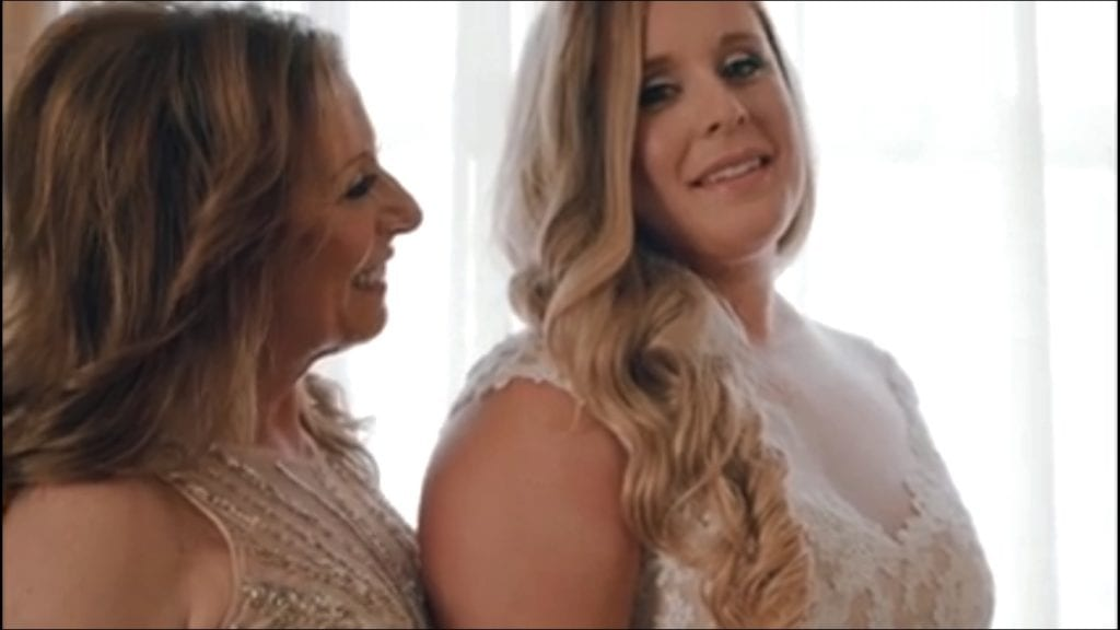Karen Caplan with daughter Alex Jackson on wedding day