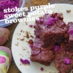 Stokes Purple® Sweet Potato Brownies with Purple Buttercream Frosting