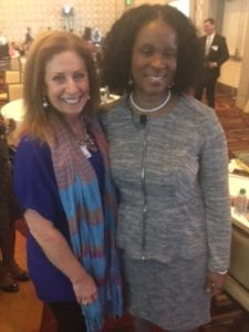 Karen Caplan and Linda Cliatt-Wayman