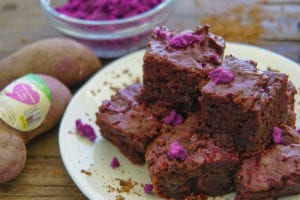 Frieda's Specialty Produce - Purple sweet potato brownies