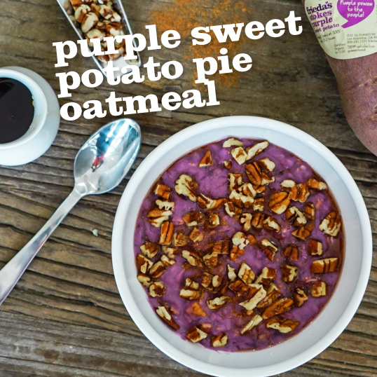 Frieda's Specialty Produce - Purple Sweet Potato Pie Oatmeal