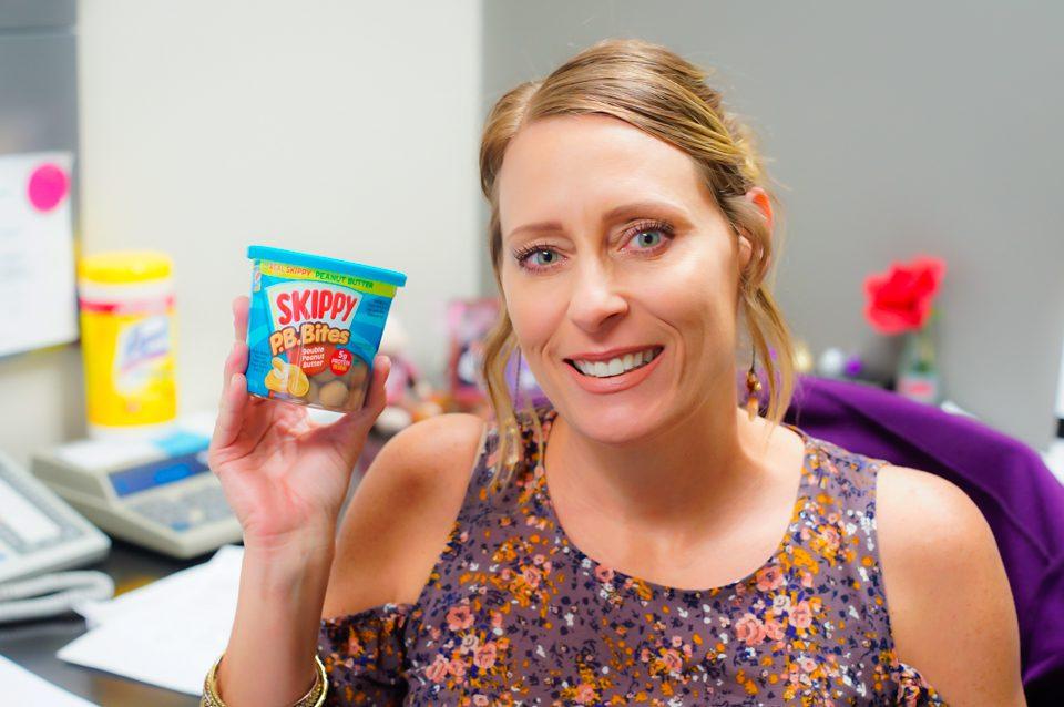 What's on Karen's Plate? - Karen's Blog - Becky with her Skippy P.B. Bites