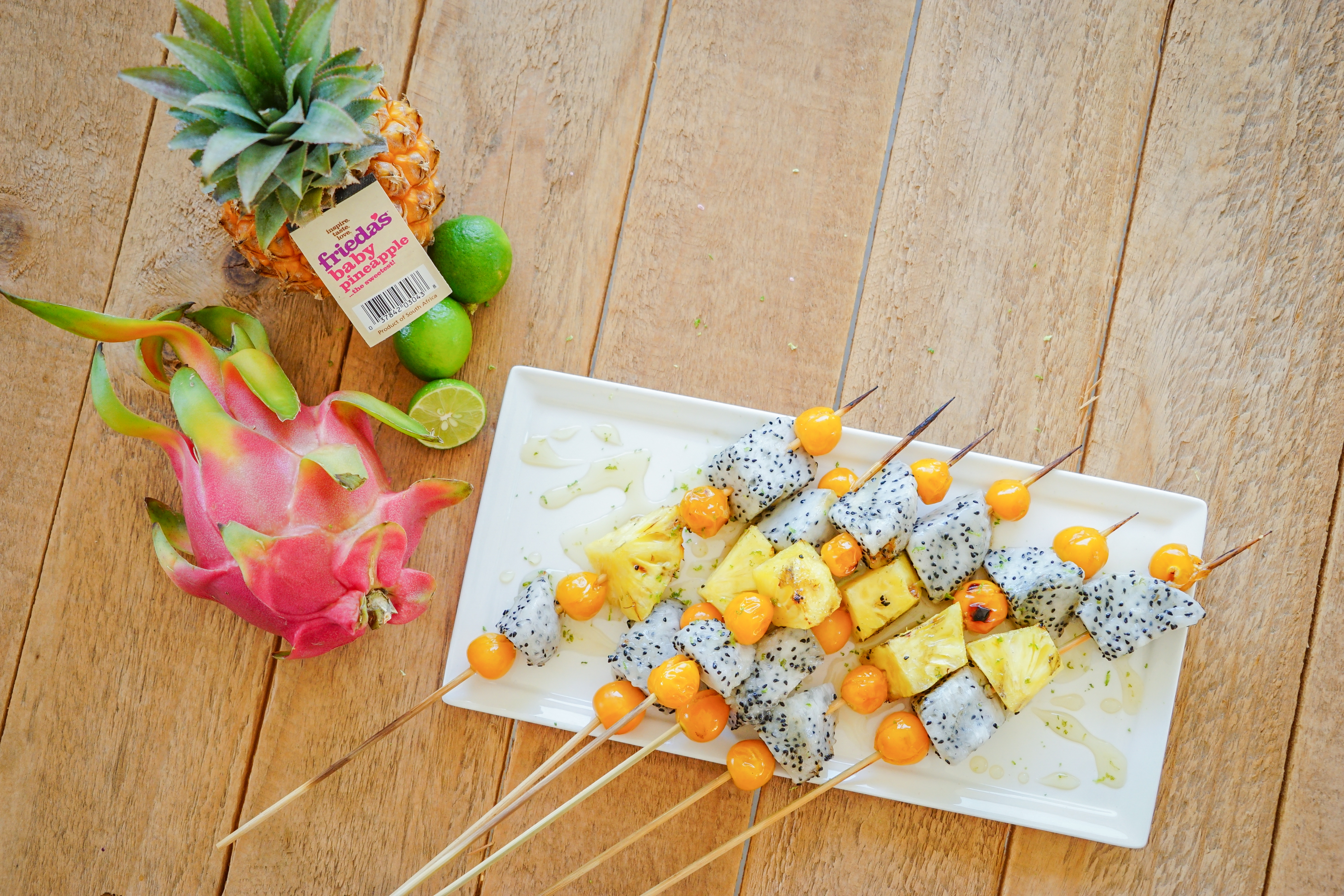 Frieda's Specialty Produce - Grilled Tropical Fruit Kebabs