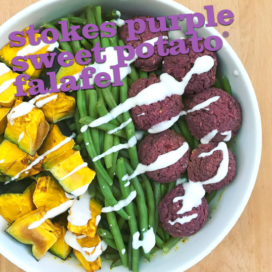 Frieda's Specialty Produce - Stokes Purple Sweet Potato Falafel