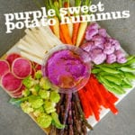 Purple Sweet Potato Hummus