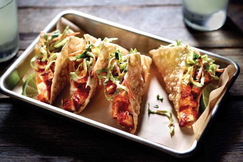 Applebee's Chicken Wonton Tacos