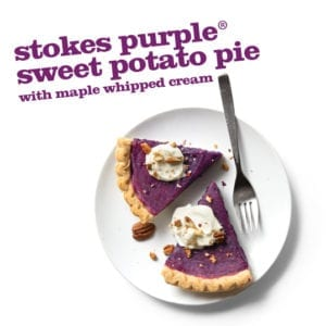 Frieda's Stokes Purple Sweet Potato Pie with Maple Whipped Cream